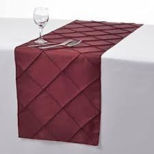 Table Runner Pintuck Taffeta Color Burgundy