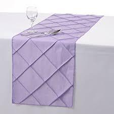 Table Runner Pintuck Taffeta Color Lavander