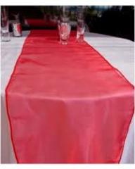 Table Runner Organza Red