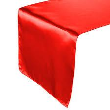 Table Runner Satin Color Red