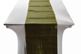 Table Runner Taffeta Color Moss