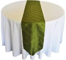 Table Runner Pintuck Taffeta Color Moss