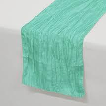 Table Runner Taffeta Color Tiffany Blue
