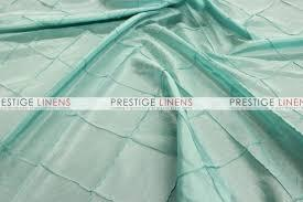Table Runner Pintuck Taffeta Tiffany Blue