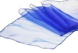 Table Runner Organza Royal Blue