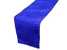 Table Runner Taffeta Color Royal Blue