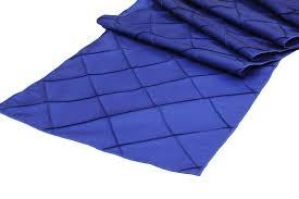 Table Runner Pintuck Taffeta Color Royal Blue
