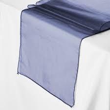 Table Runner Organza Navy Blue