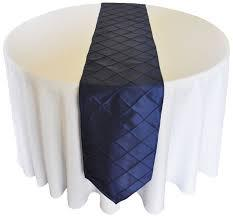 Table Runner Pintuck Taffeta Color Navy Blue