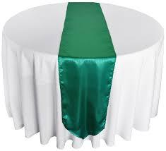 Table Runner Satin Color Jade