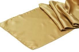 Table Runner Satin Color Old / Antique Gold