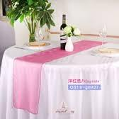 Table Runner Organza Magenta