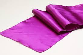 Table Runner Satin Color Magenta