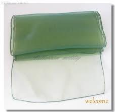 Table Runner Organza Emerald