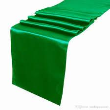 Table Runner Satin Color Emerald