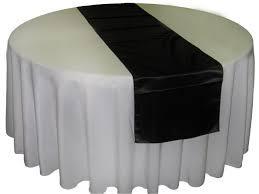 Table Runner Satin Color Black