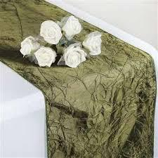 Table Runner Taffeta Color Willow
