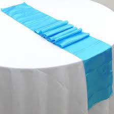 Table Runner Satin Color Dark Turquoise