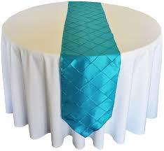 Table Runner Pintuck Taffeta Color Dark Turquoise