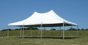 20\' x 30\' Pole Tent White Class B   Customer Set Up