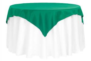 54 x 54 Overlay Polyester Color Emerald Green
