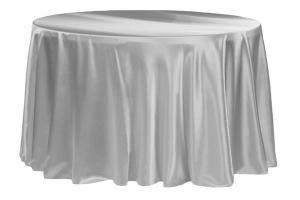 Satin 120 Round Tablecloth Silver