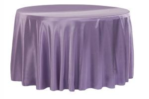 Satin 120 Round Tablecloth Victorian Lilac