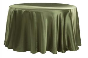 Satin 120 Round Tablecloth Willow