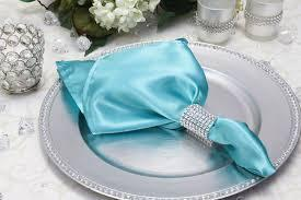 Satin Napkin Light Turquoise