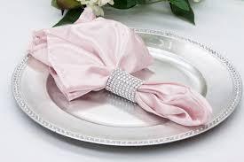 Satin Napkin Pastel Pink