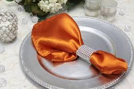 Satin Napkin Burnt Orange