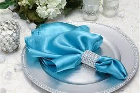 Satin Napkin Aqua Blue