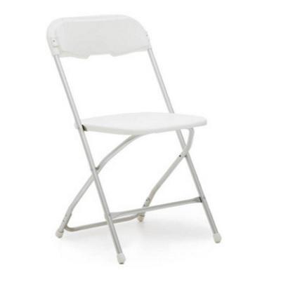 White Alloy Folding chair