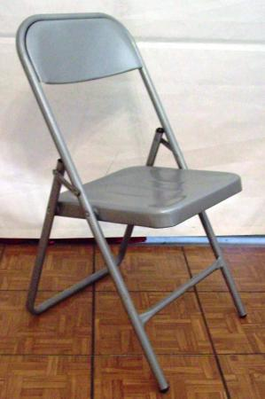 Folding Chair Metal Gray, Outdoor