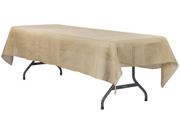 Burlap Tablecloth 60\