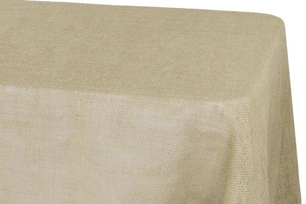 Burlap Tablecloth 60\