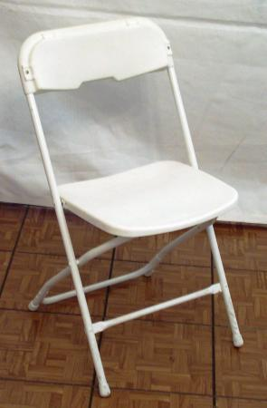 Folding Chair White Outdoor