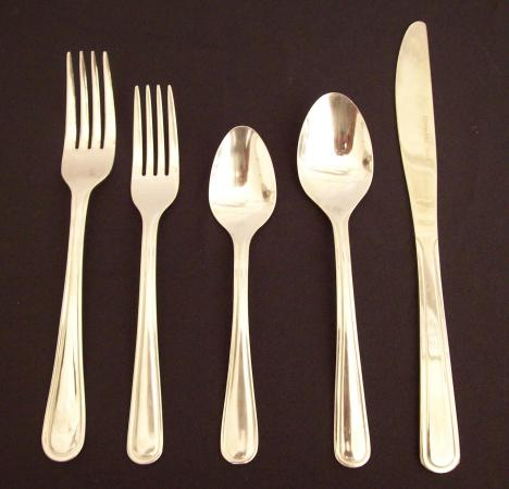 Stainless flatware -  Set of 5