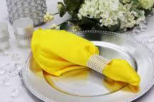 Poly Napkins Color Canary Yellow