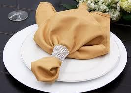 Poly Napkins Color Gold