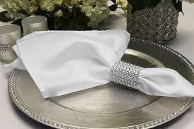 Satin Napkin White