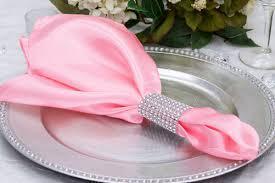 Satin Napkin Pink