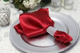 Satin Napkin Apple Red