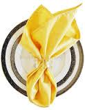 Satin Napkin Canary Yellow