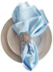 Satin Napkin Baby Blue