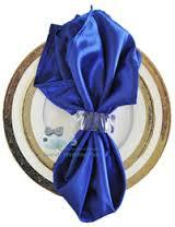 Satin Napkin Royal Blue