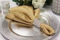Satin Napkin Old/Antique Gold