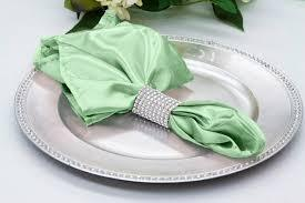 Satin Napkin Mint Green
