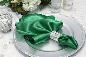 Satin Napkin Emerald