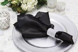 Satin Napkin Black